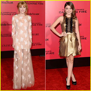 Bella Thorne & Sarah Hyland: 'The Hunger Games: Catching Fire' L.A. Premiere