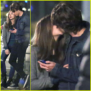 Chloe Moretz & Jamie Blackley: Sweet Kisses on 'If I Stay' Set