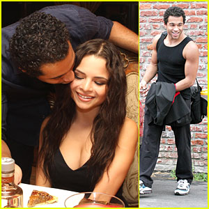 Corbin Bleu & Sasha Clements: Dinner Before 'Dancing' Practice