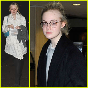 Dakota & Elle Fanning: Separate Coast Outings