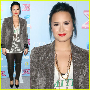 Demi Lovato: 'X Factor' Top 12 Party!