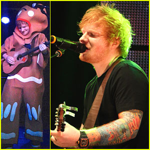 Ed Sheeran: Gingerbread Man for Halloween Concert!