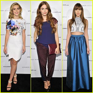 Holland Roden & Kiernan Shipka: British Fashion Council Event