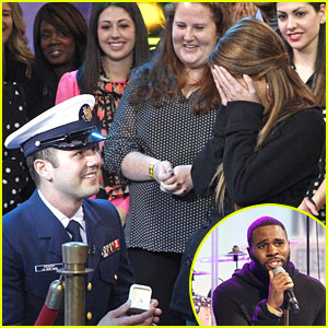 Jason Derulo Helps Military Couple Get Engaged on GMA