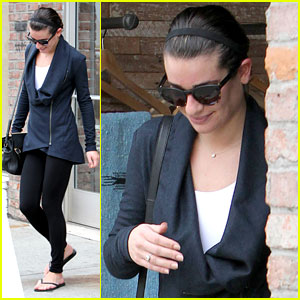 Lea Michele: Sweat Shop Stop in Hollywood