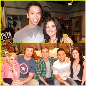 Lucy Hale: 'Baby Daddy' Set Pics! (Exclusive)