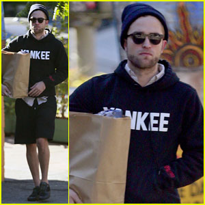 Robert Pattinson: Grocery Run After Kristen Stewart Reunion