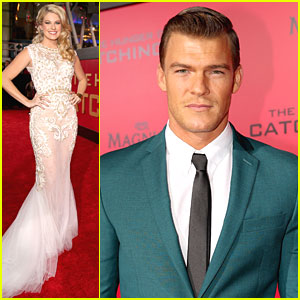 Stephanie Leigh Schlund & Alan Ritchson: Cashmere & Gloss at 'Catching Fire' L.A. Premiere