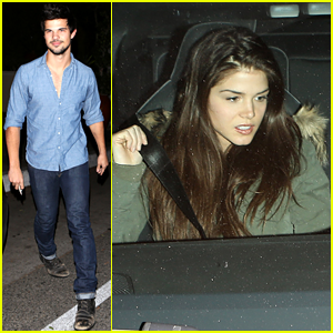 Taylor Lautner: Dinner Date with Marie Avgeropoulos!