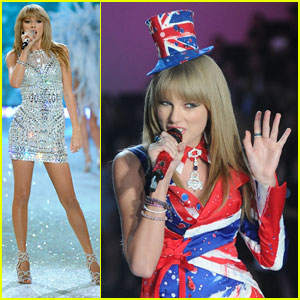 Secret Fashion Show 2013 Taylor Swift Taylor Swift Two Outfits for
