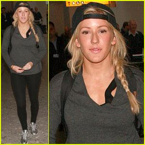 Ellie Goulding: Low-Key London Arrival