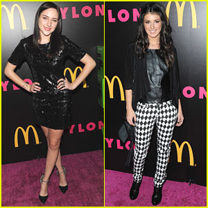 Haley Ramm & Shenae Grimes: Nylon December Issue Celebration Party