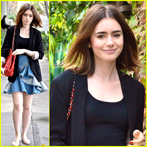 Lily Collins: Lunch