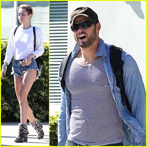 Miley Cyrus & Kellan Lutz Share Flight!