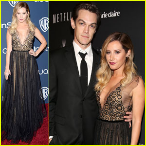 Ashley Tisdale & Christopher French Attend Multiple Golden Globes 2014 After-Parties