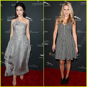 Crystal Reed & Claire Holt: BAFTA Tea Party 2014 Attendees