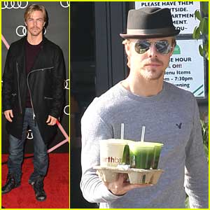 Derek Hough: EarthBar Stop After Audi Golden Globe Party