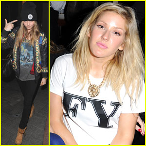 Ellie Goulding: Brooklyn Bowl Launch Party with Cara Delevingne!