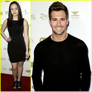 James Maslow: Pre-Grammys Party with Hayley Orrantia!