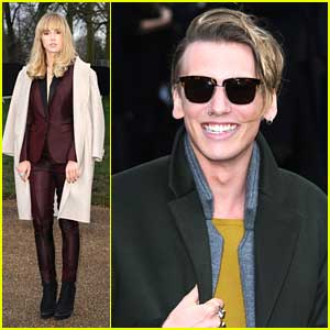 Jamie Campbell Bower: Burberry Prorsum Show with Suki Waterhouse