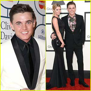 Jesse McCartney - Grammys 2014 with Katie Peterson