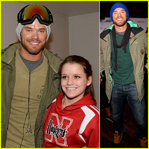 Kellan Lutz Learns to Snowboard at Sundance Film Fest