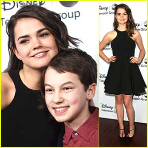 Maia Mitchell & Hayden Byerly: Disney ABC TCA Party Pair