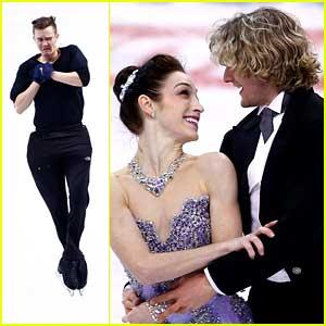 Meryl Davis & Charlie White: Prudential U.S. Figure Skating Championships 2014 Practice Pics