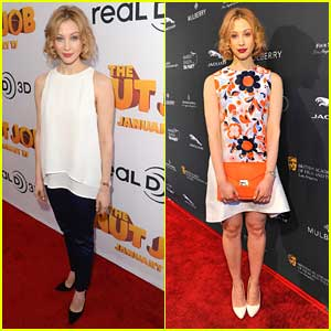 Sarah Gadon: 'The Nut Job' Premiere & BAFTA Tea Party Events