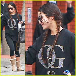 Vanessa Hudgens Rocks Braids for Weekend Workout
