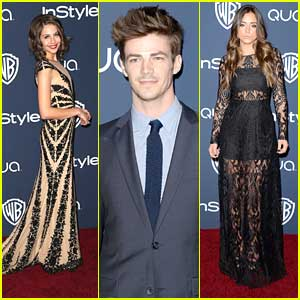 Grant Gustin & Willa Holland: InStyle Golden Globe Party 2014