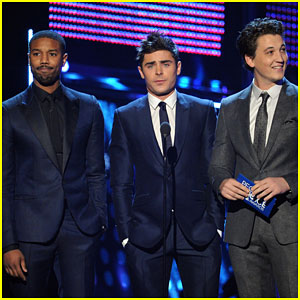Zac Efron & Michael B. Jordan: People's Choice Awards 2014 with Miles Teller!