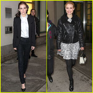 Zoey Deutch & Lucy Fry: 'Vampire Academy' Promo in NYC