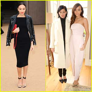 Ashley Madekwe: Burberry Prorsum & Whistles at London Fashion Week