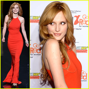 Bella Thorne: Red Dress Fashion Show 2014