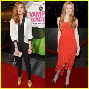 Debby Ryan & Katherine McNamara: 'Vampire Academy' Premiere Pals!