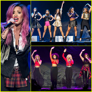 Demi Lovato: 'Neon Lights Tour' Opening Night with Fifth Harmony & Little Mix!