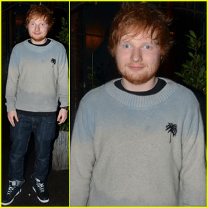 Ed Sheeran Grabs Dinner with Pharrell Williams After Visiting His Old School