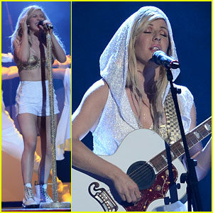 Ellie Goulding Performs Medley at BRIT Awards 2014 - Watch Now!