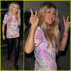 Ellie Goulding 'Saves the Rave' with Tie-Dye Tee