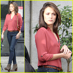 Italia Ricci: Red Hot for 'Chasing Life' Filming!