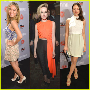 Jessica Lu & Jena Malone: 'Vanity Fair' Young Hollywood Party 2014 with Crystal Reed