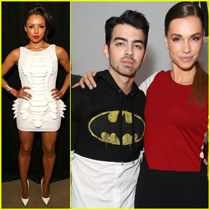 Joe Jonas & Blanda Eggenschwiler: The Blonds Fashion Show with Kat Graham