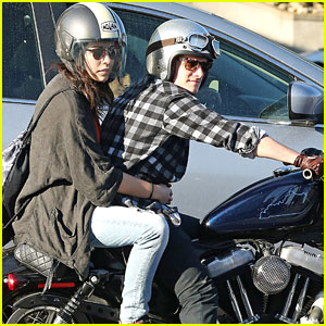 Josh Hutcherson Takes Motorcycle Spin with Mystery Gal Pal!