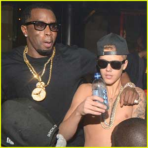 Justin Bieber Parties with Sean 'Diddy' Combs in Atlanta