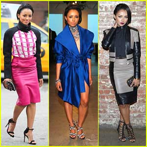 Kat Graham: Tri-Color Cutie at NYFW