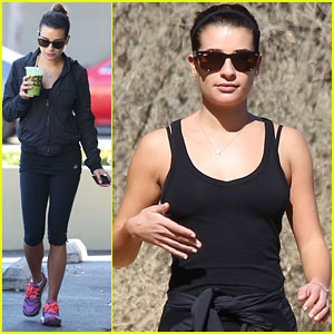 Lea Michele: Runyon Canyon Hike with Mom & Dad!