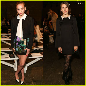 Morgan Saylor & Zosia Mamet: Honor Fashion Show Friends