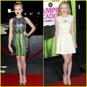 Peyton List & Dove Cameron: 'Vampire Academy' Premiere Pals