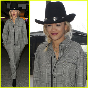 Rita Ora: Off to Dubai with Her Dogs!